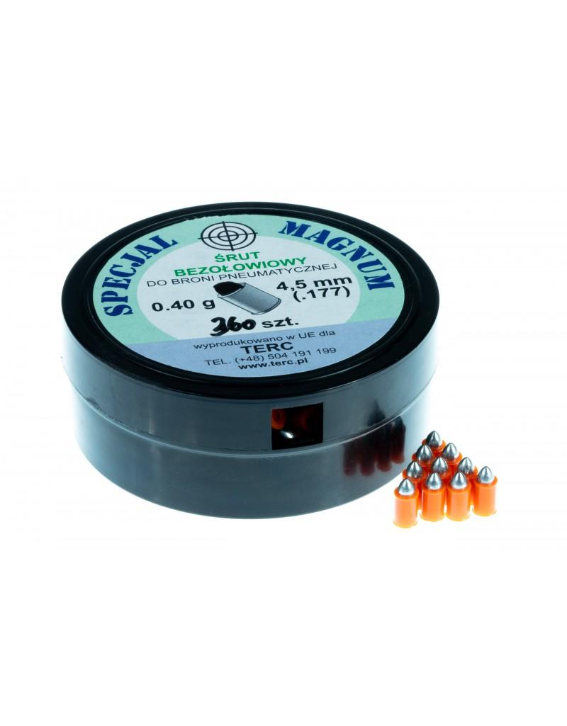 Śrut ekologiczny bezołowiowy SPECJAL MAGNUM kal. 4,5 mm .177 (360 szt.) - BS014
