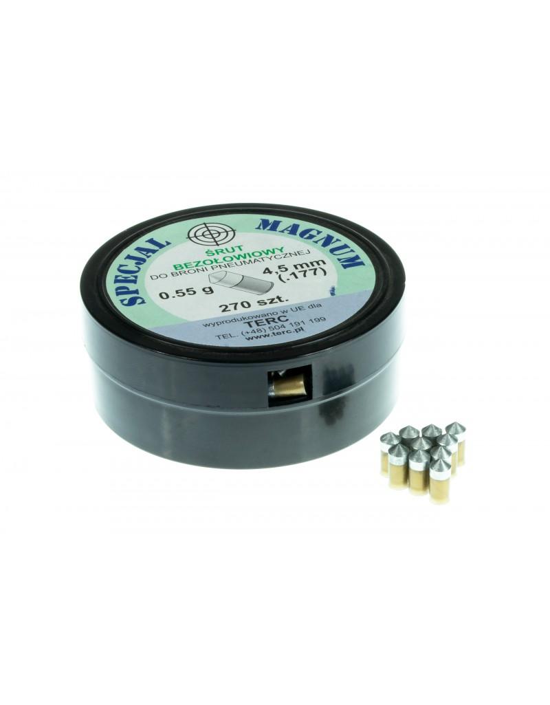 Śrut ekologiczny bezołowiowy SPECJAL MAGNUM kal. 4,5 mm .177 (270 szt.) - BS015
