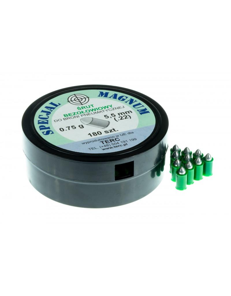 Śrut ekologiczny bezołowiowy SPECJAL MAGNUM kal. 5,5 mm .22 (180 szt.) - BS016
